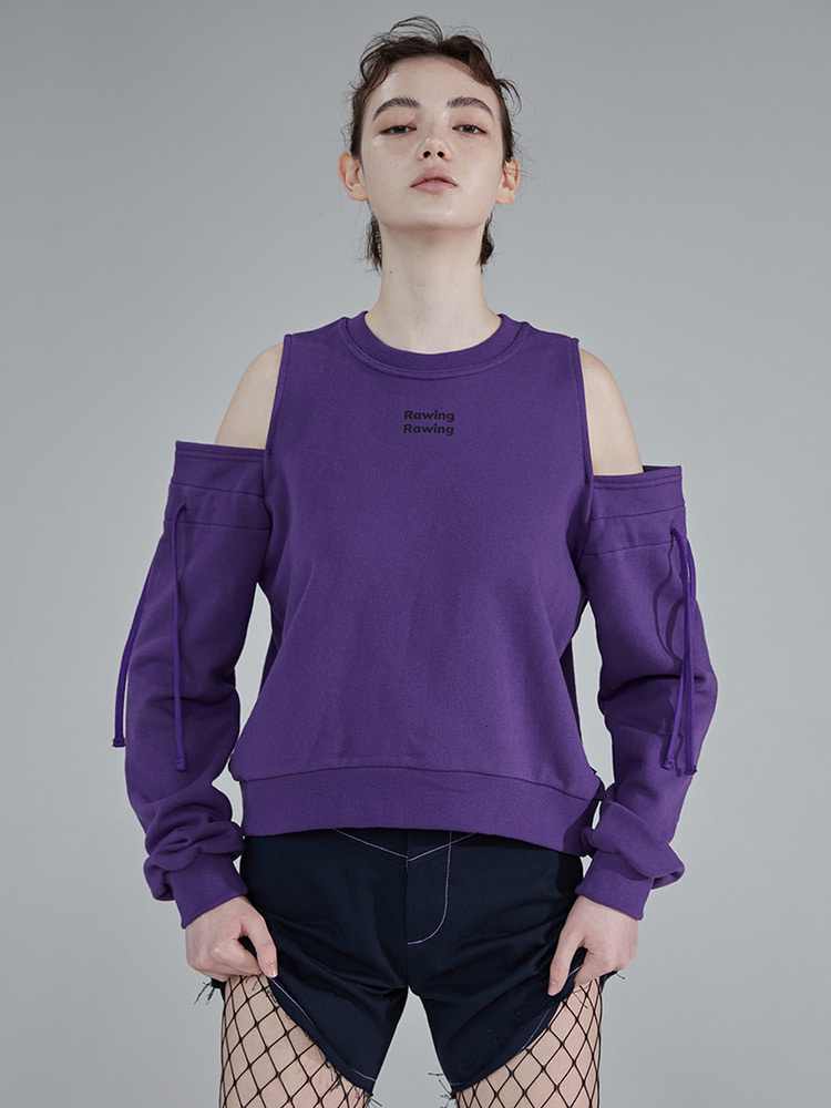 PURPLE DRAWING SWEATSHIRT_purple