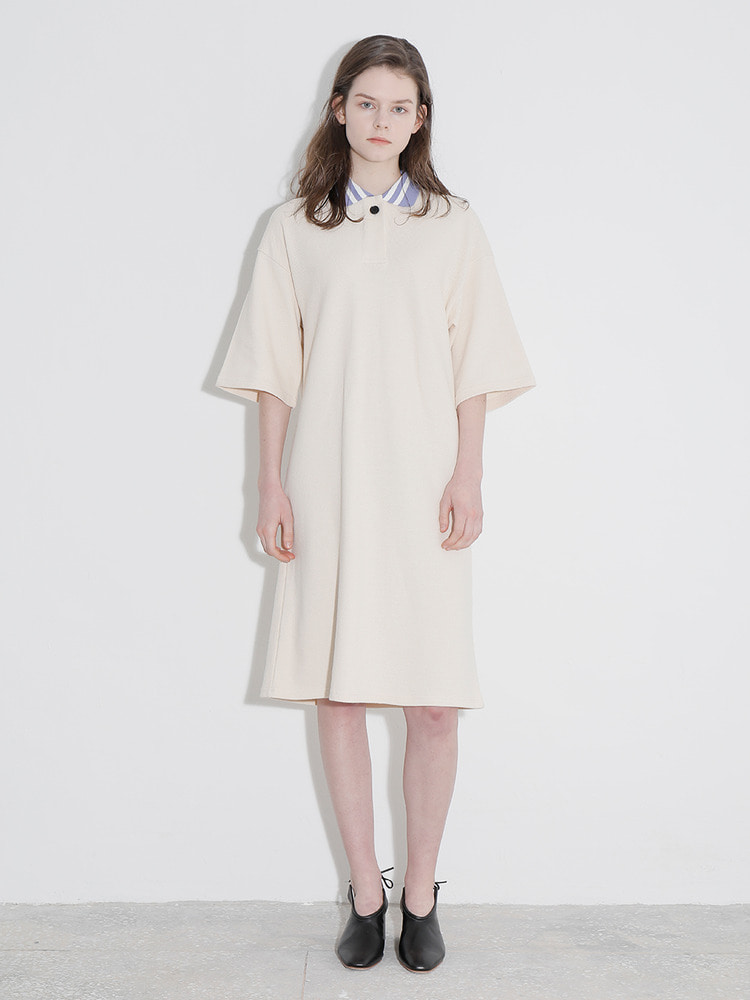 JOURNEY POLO DRESS_ivory