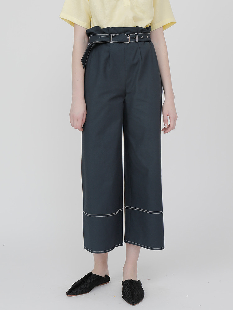 TREAT WIDE PANTS_navy