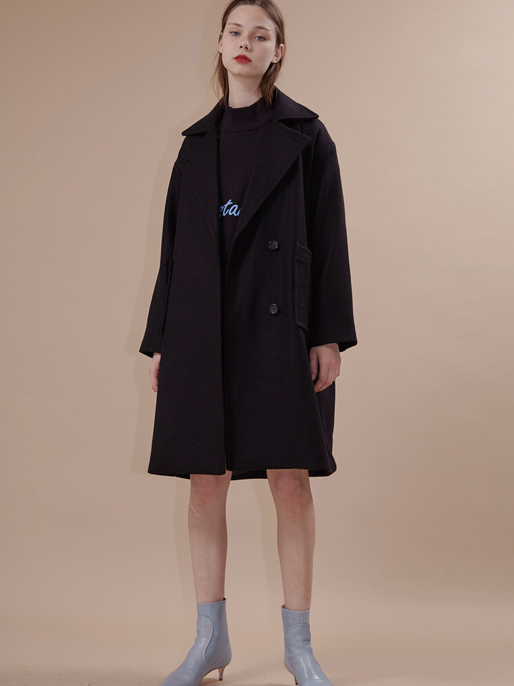 YORK DOUBLE COAT_black