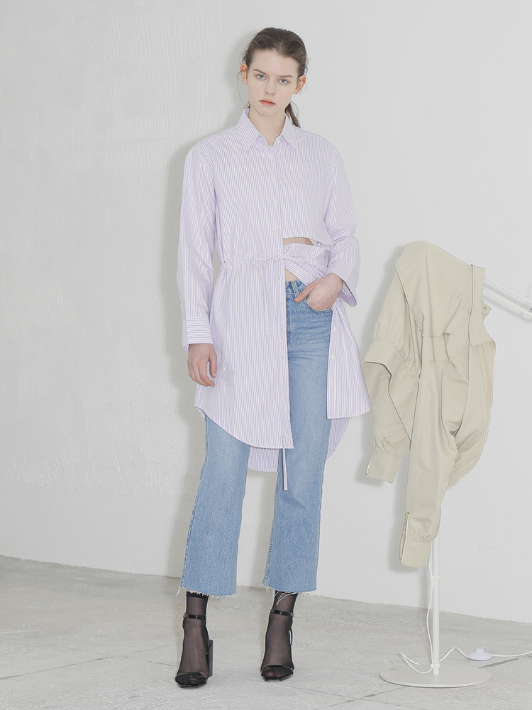 SOCIETY SHIRT DRESS_violet