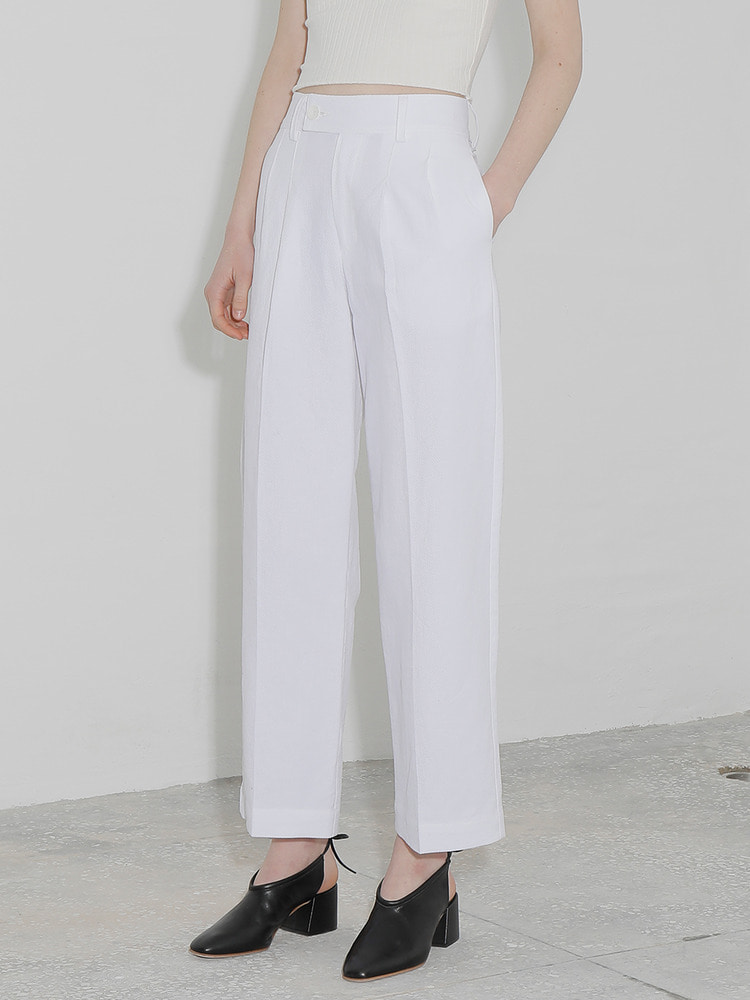 LILY WIDE PANTS_white