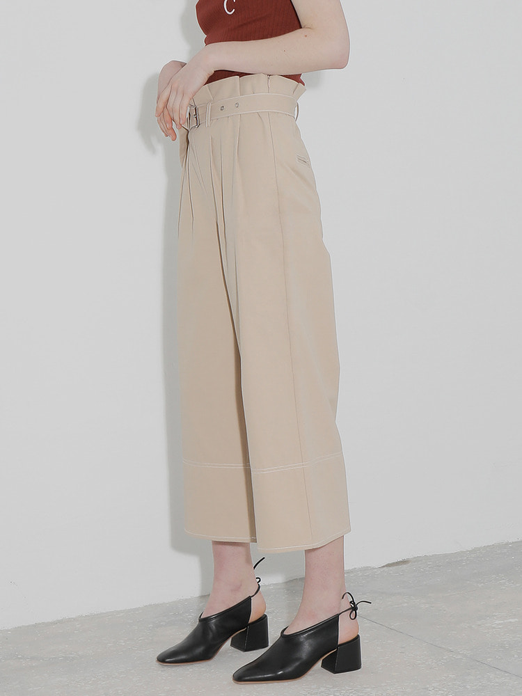 TREAT WIDE PANTS_beige