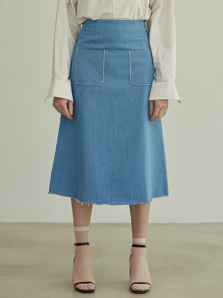 STORY DENIM SKIRT_blue